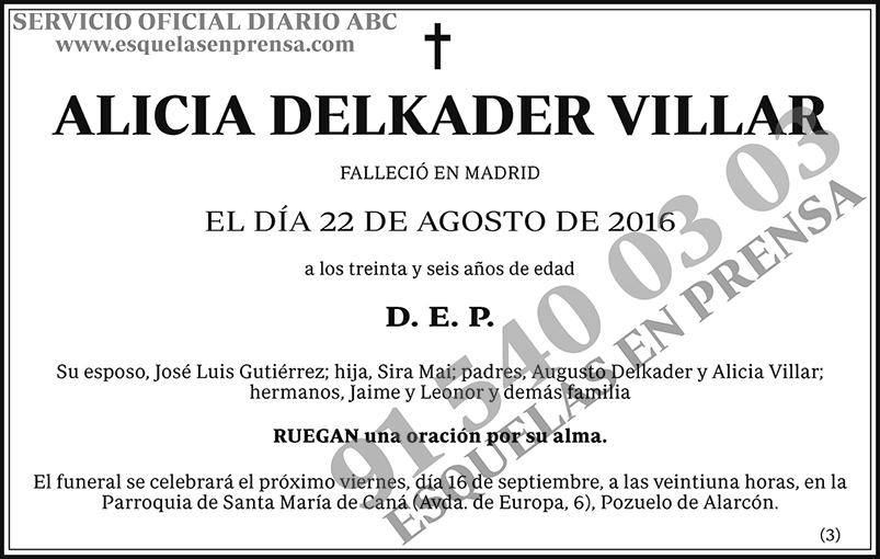 Alicia Delkader Villar
